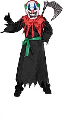 Verrückter Clown Kostüm für Kinder Halloween Verkleidung Large (8 Halloween Crazy Kostüme)