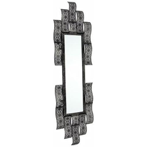 Premier BA131219 - Specchio in metallo, effetto ottone, 25 x 94 cm