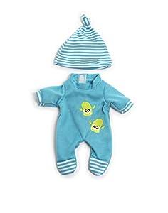 Miniland- Pijama FRÍO Azul 21CM Vestido para muñecos de 21 cm, Color (31671)