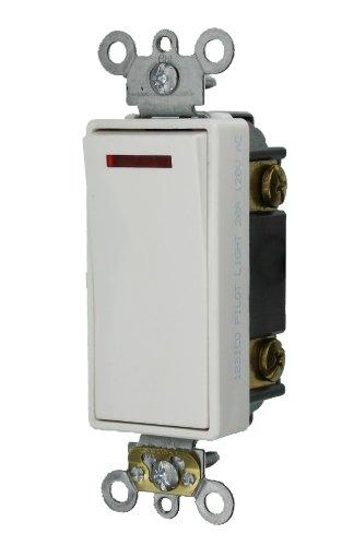 Leviton 5638-2W 20-Amp 120-Volt Decora Plus Rocker Pilot Light Illuminated ON Req. Neutral, 3-Way AC Quiet Switch, White by Leviton -