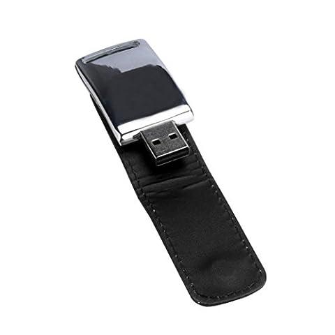 Bluestercool Clé USB 2 Go - 128 Go USB 2.0 Business cuir lecteur Flash mémoire Stick U-disque (64 Go, Noir)