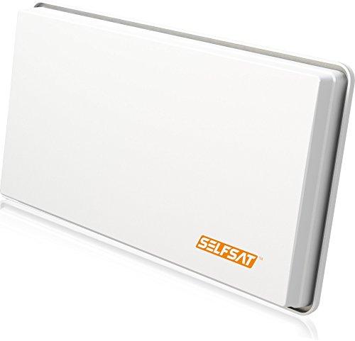 fensterhalterung selfsat Selfsat H30 D2 Twin Flachantenne für 2 Teilnehmer weiß