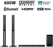 Sony 600W Real 5.1ch Dolby Digital Soundbar with Tallboy Speaker | HT-RT40