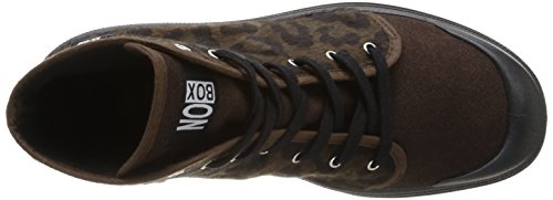 No Box Galia, Baskets mode femme Marron (Leopard Brown)