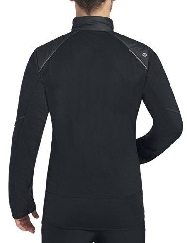 Rono Herren Lauf Fitnessjacke Hybrid Primaloft Black (900)