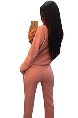 Neue Damen 2Stück Pink Reißverschluss Detail Sweat Suit Trainingsanzug Hose Club Wear Casual Kleidung Größe L UK 12–14EU 40–42