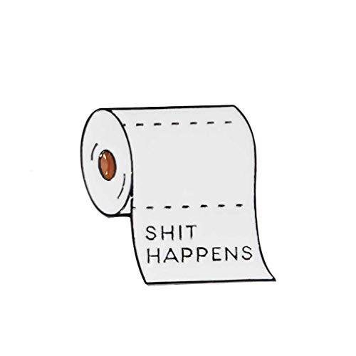 Toilettenpapier-Rolle Brosche Metall-Abzeichen Lustige Wörter Letters Pin Kleidung Tasche Kostüm - Lustig Kostüm Schmuck