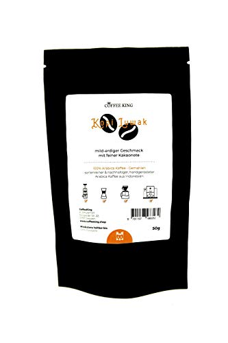 Kopi Luwak 100% Arabica Kaffee Gemahlen 50g (Katzenkaffee von frei lebenden Tieren)
