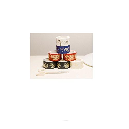 Klebeband, einfach zu schälen dekorative Haftnotiz Japanisches Papier aus chinesischem Papier Jedes Stück 1 Stück jeder Satz 25 mm Breite × 7 m Volumen (Japanische Haftnotizen)