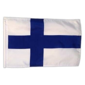 Fahne Flagge Finnland 30 x 45 cm