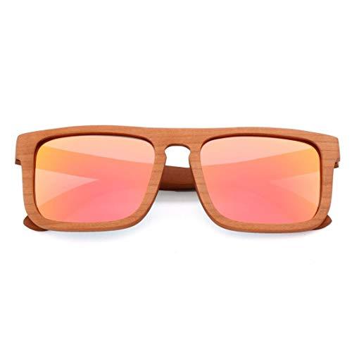 Wood Fashion Polarized Sonnenbrillen für den Außenbereich, UV400, Unisex Accessoires (Farbe : Rose Gold)
