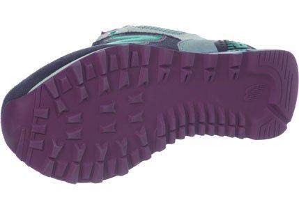 New Balance NBWL574MON Sneaker, Donna Verde-Blu marino
