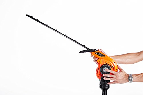 31nqT08mqlL - eSkde LPHT2 Long Reach Telescopic Hedge Trimmer Multi Angle Head, 450 W, 240 V, Black and Orange