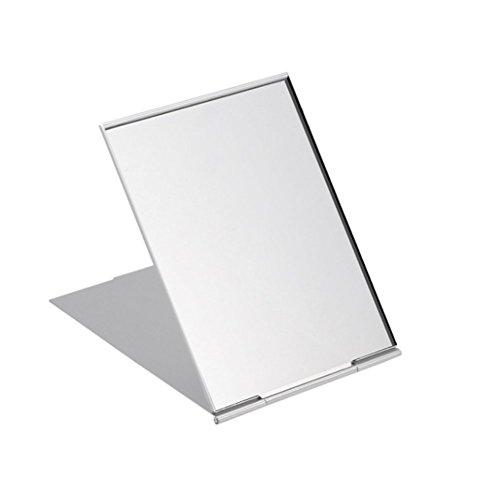Spaufu Espejo de viaje plegable, portátil, ultra delgado, espejo compacto, espejo de maquillaje pequeño...