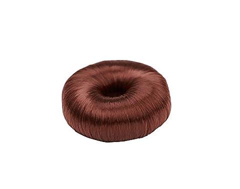 1pcs Cheveux Donut Up Do Cheveux Bague Hairstyler Bun Maker mariée cheveux pour femme/fille, marron