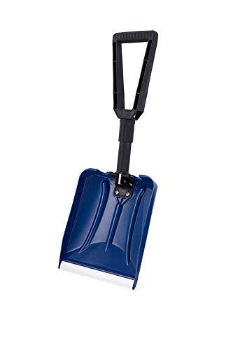 Snow Shovel Collapsible Shovel with D Grip, Plastic Blade (31.5-67cm Foldable Length, 28.5cm x 24.5cm Blade)