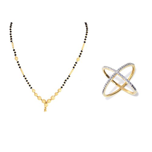 Zeneme AKSHAYA TRITIYA Speical Gift Collection of Fashionable American Diamond Mangalsutra & Rings Jewellery For Women