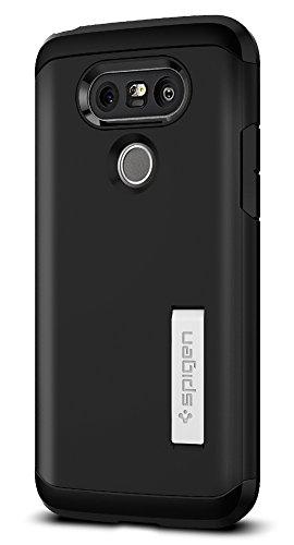 LG G5 Hülle, Spigen® [Tough Armor] Extrem Fallschutz [Schwarz] Doppelte Schutzschicht Stoßabweisende Handyhülle Silikon TPU Innenteil + Polykarbonat Außenteil Schutzhülle für LG G5 Case Cover Black (A18CS20139)