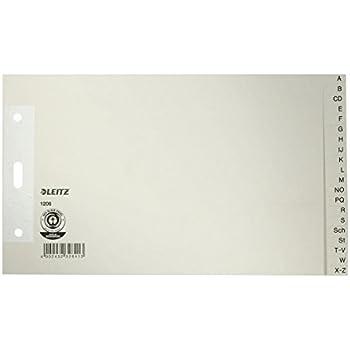 Esselte Leitz Papierregister Blanko Papier grau A5 quer 12 Blatt