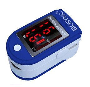 biosync-finger-pulse-oximeter-heart-rate-monitor-w-instructions-lanyard-case-dark-blue