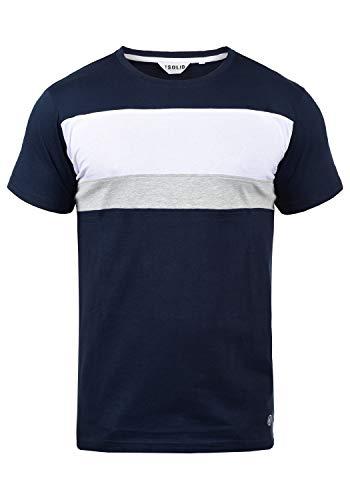 !Solid Sascha Herren T-Shirt Kurzarm Shirt Mit Streifen Und Rundhalsausschnitt, Größe:XXL, Farbe:Insignia Blue (1991)
