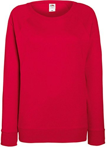 Damen Lightweight Raglan Sweat - In vielen tollen Farben Farbe Rot Größe L