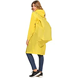Aibrou Impermeable Amarilla Ligero Y Cómodo Para Escalada Senderismo Unisex