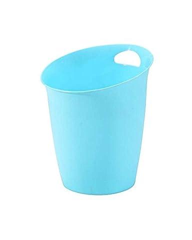 Leisial Boîte de rangement des ordures Poubelles de cuisine en plastique Poubelles Idées de mode Boîte de Rangement Plantes en pot pour la maison de cuisine ou de l'emploi Bureau(Bleu)