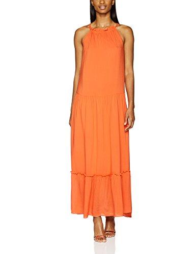 Second Female Damen Kleid Duma Strap Maxi Dress Orange (Fiesta 3006)