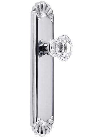 Trenton Door Set With Fluted Crystal Knobs Double Dummy Polished Chrome. Old Door Knobs. by Emtek