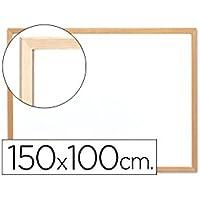 Pizarra blanca laminada con marco de madera Q-connect 150x100 cm