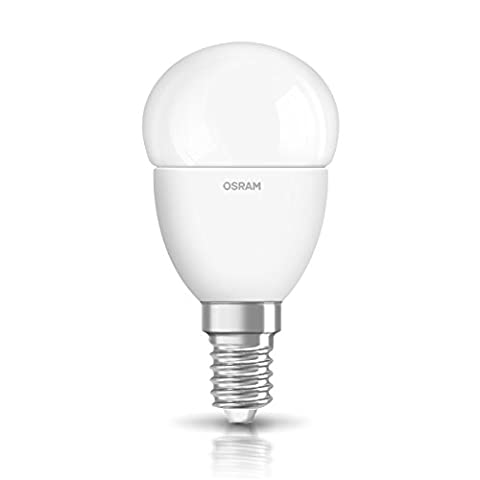 OSRAM LED SUPERSTAR CLASSIC P / LED lamp, classic mini ball shape, with screw base: E14, Dimmable, 6 W, 220…240 V, 40 W replacement, frosted, Warm White, 2700 K,