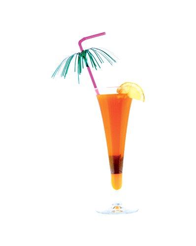 Girm®–S5659–12Stück, Trinkhalme Cocktail Palma Mehrfarbig–Bunte Trinkhalme aus Kunststoff–Lange Trinkhalme flexibel–ideal für Bar, Eisdiele, lokalen Nacht, Buffet, Party -