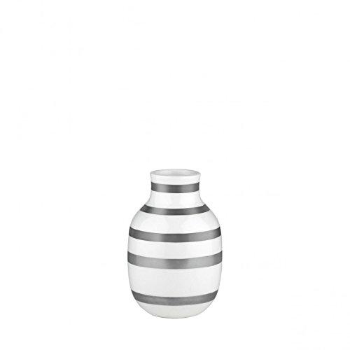 Kähler - Omaggio Vase - Keramik - silber / weiß - Höhe 12,5 cm Ø 8,5 cm