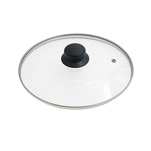 Oryx 5023420 - Tapadera de cristal para sartén, 24 cm, borde acero inoxidable, transparentes