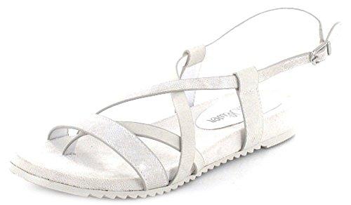 S. OLIVER sandali donna in bianco crema con fibbia, Bianco (bianco), 41 EU