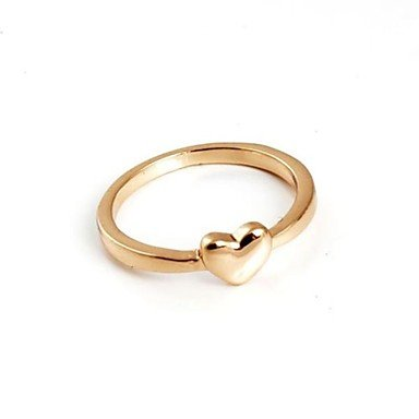 Fashion Heart Rings (One Pack Include 3 pieces) Random Color , 9