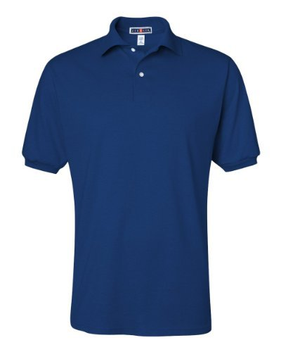 JERZEES ADULT JERSEY POLO WITH SPOTSHIELD (ROYAL) (LARGE) by Jerzees (Jersey Adult Jerzees Polo)
