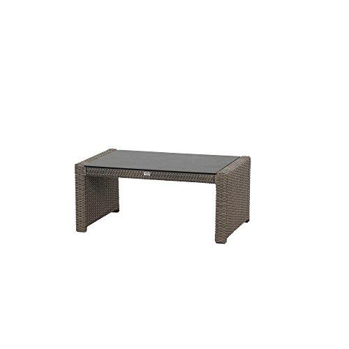 Siena Garden Lounge Tisch Teramo, 97,5x61x43cm, Gestell: Aluminium, pulverbeschichtet, Fläche:...