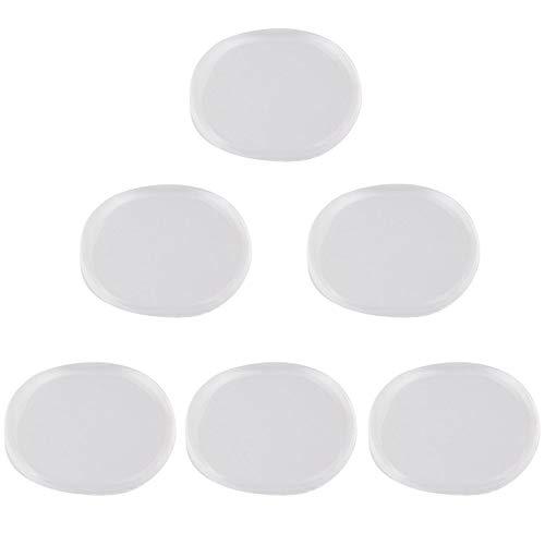 6 stücke Silikon Ovale Form Leise Trommeln Dämpfer Schalldämpfer Trommeln Übungspads Reduzieren Schallmatte Trommel Zubehör - Milch Weiß
