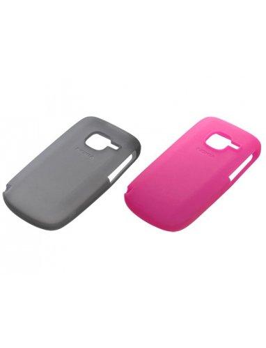 Nokia Silikonhülle für Nokia C3 2 Stück schwarz/rosa -
