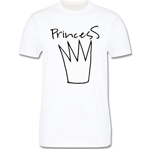 Statement Shirts - Princess Krone - Herren Premium T-Shirt Weiß