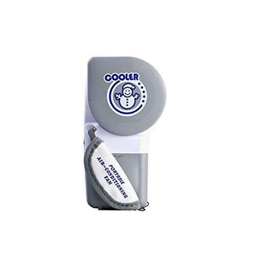 NN-xUE Mini-Lüfter, handlicher Kühler Kleiner, blattloser Lüfter Mini-Klimaanlage Tragbarer drehzahlverstellbarer Lüfter, der mit Batterien oder USB-Aktivitäten im Freien betrieben Wird,Gray