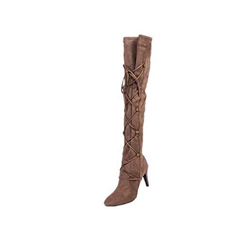Vovotrade Donna Affascinante Boots Stivali Stivali a Punta Inv