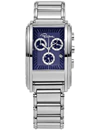 Roberto Cavalli Men's Eson Chronograph Watch R7253955035 with Quartz Movement, Stainless Steel Bracelet and Blue Dial