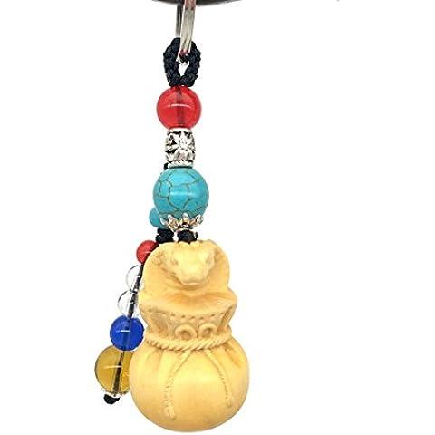 duojimi zodiaco ciondolo portachiavi ornamenti ornamenti regalo di compleanno in legno Carving, Zodiac