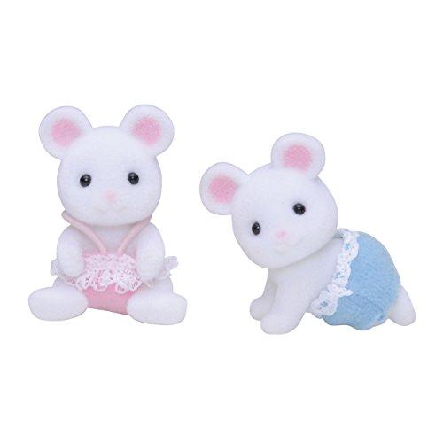 Sylvanian Families Weiße Mäuse Zwillinge Bruder, Schwester, Geschwister, Conny, Sanny, Maus, Figuren3221