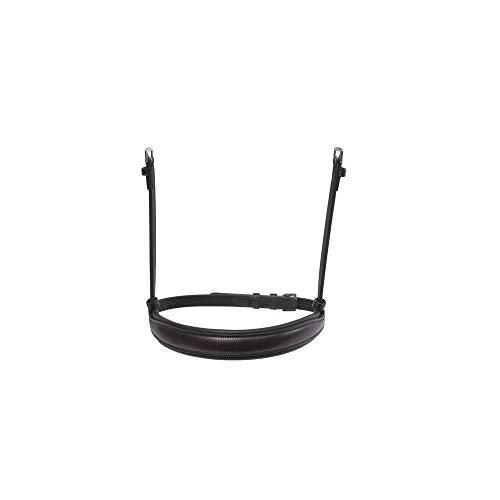 Collegiate Leather Mono Crown Cavesson Nasenriemen (Cob) (Braun) -