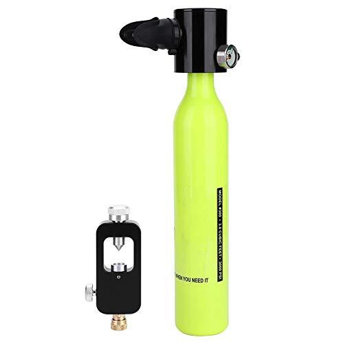 Focket Tauch-Sauerstoffflasche, Mini-Sauerstoffflasche mit Tauchflaschen-Nachfülladapter-Set, Zubehör für Tauchausrüstung, Aluminium für die Luftfahrt und tragbare Standardausrüstung