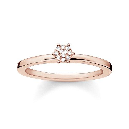 Thomas Sabo Damen-Ring Glam & Soul 925 Silber Diamant (0.05 ct) weiß Gr. 54 (17.2) - D_TR0012-923-14-54